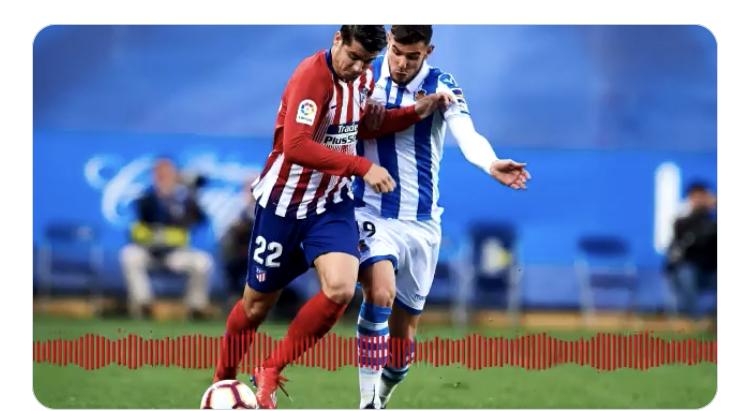 PELOS DE PUNTA: Así se narró en la radio el doblete de Morata 1