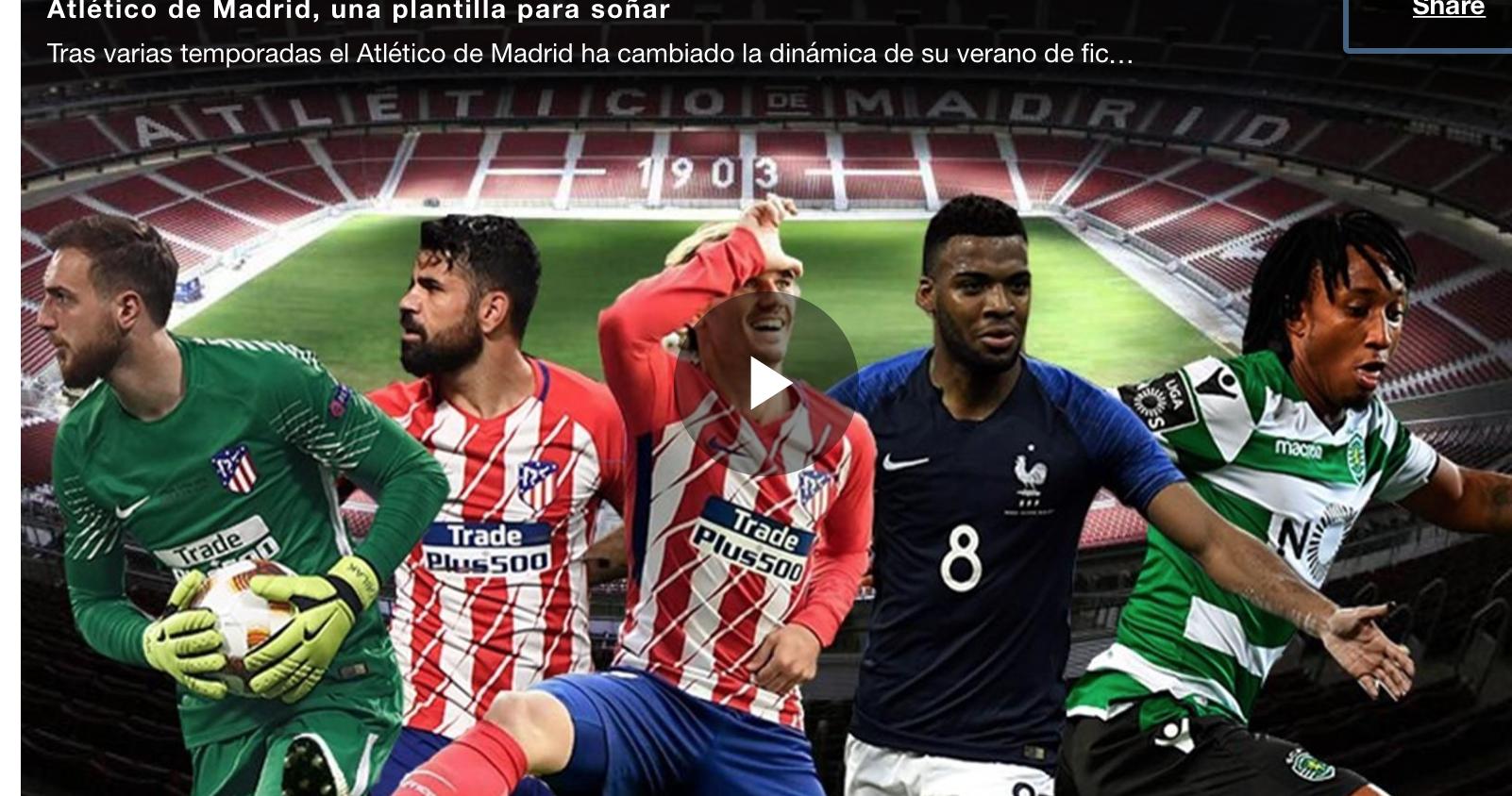 VIDEO: Así será el flamante once titular de Simeone plagado de estrellas para esta temporada 1