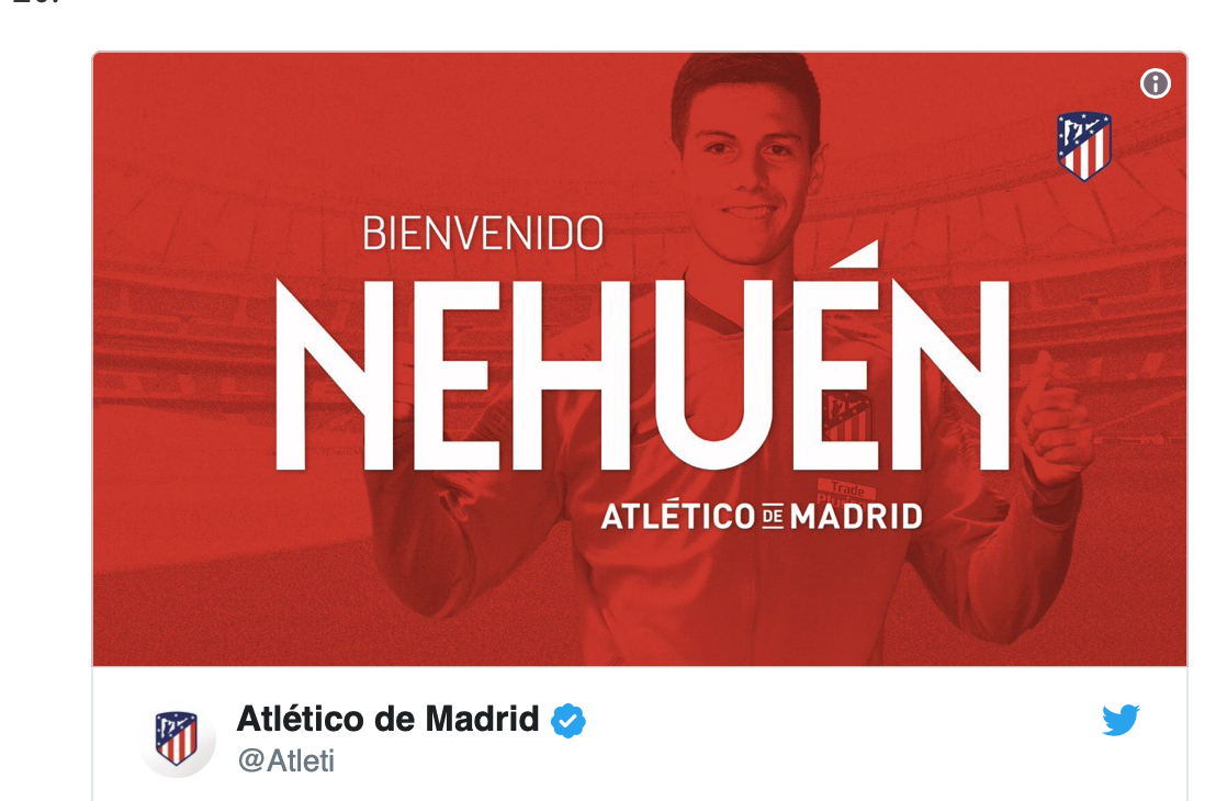 VIDEO: Así juega Nehuén, el nuevo fichaje del Atlético para reforzar la defensa 1