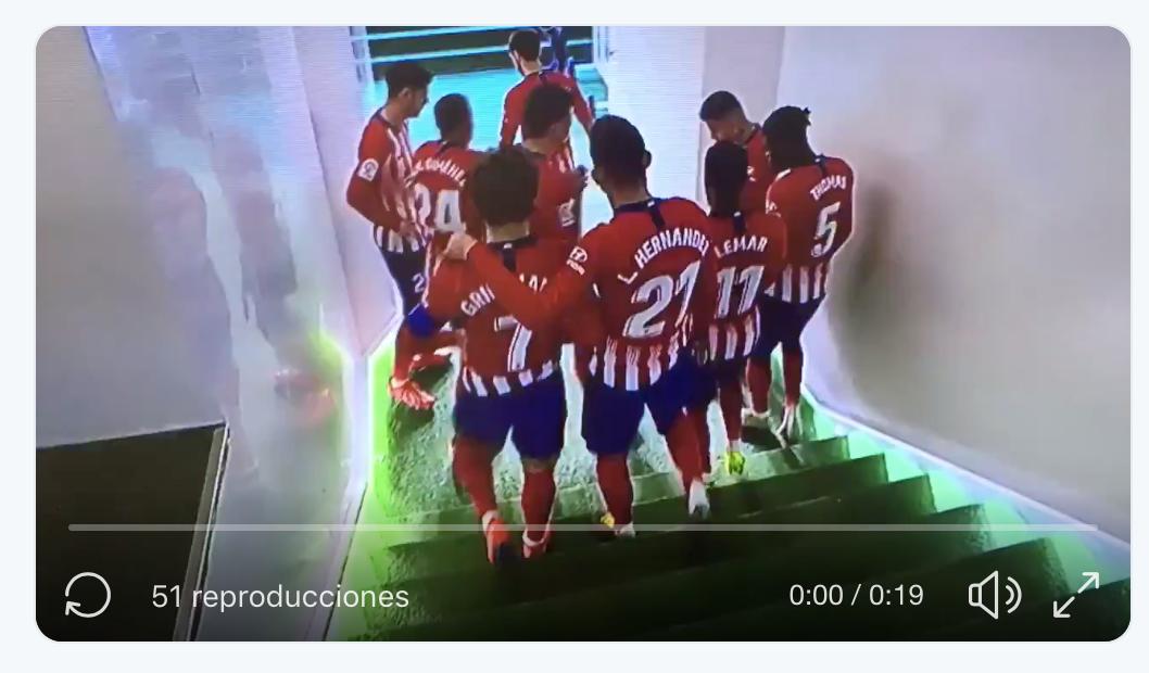 Filtran un vídeo en el túnel de cómo Simeone respeta al máximo a sus jugadores 1