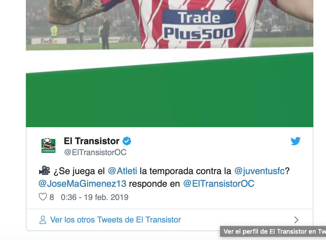 VIDEO: Así cree Giménez que llega el Atlético para jugar contra la Juventus 1