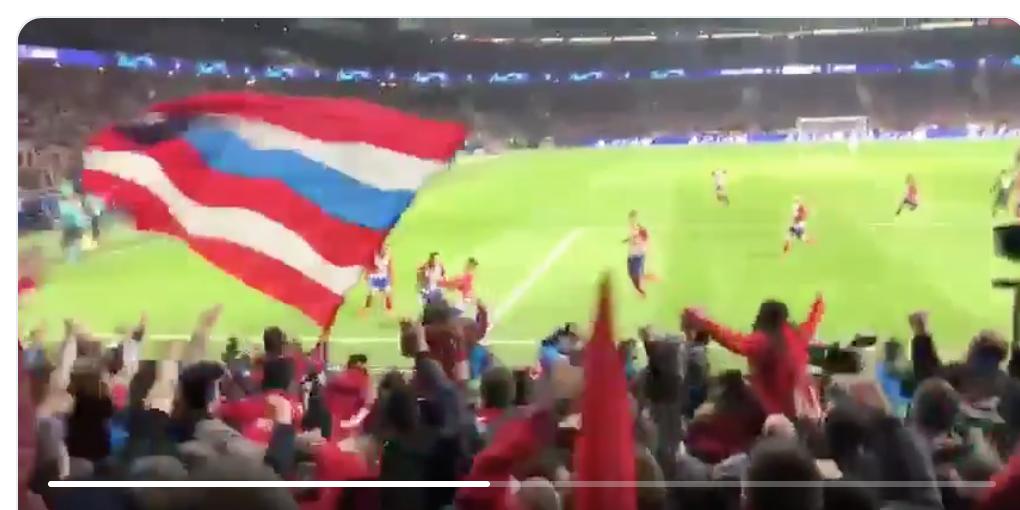 PELOS DE PUNTA: Este vídeo de un aficionado en el gol de Giménez es ya viral 1