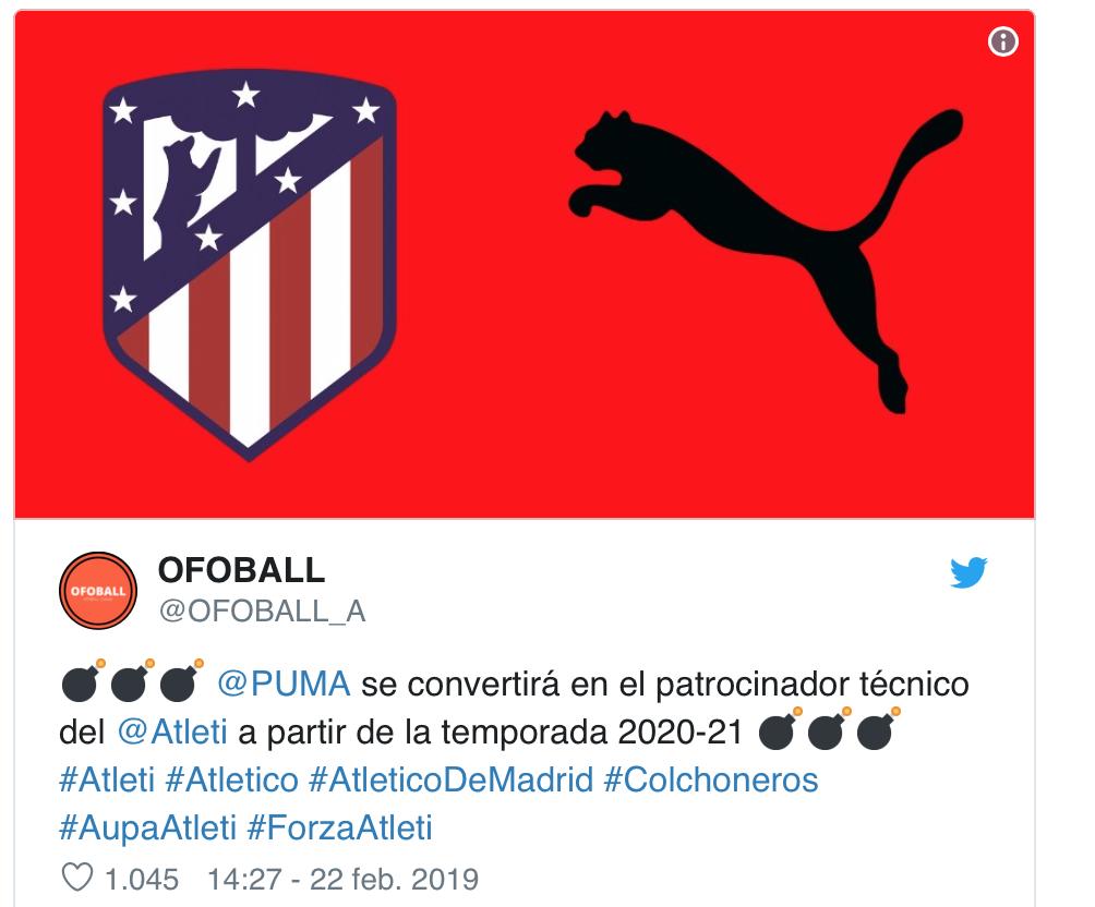 @OFOBALL_A: Así será la camiseta de marca PUMA del Atlético 2020-21 1