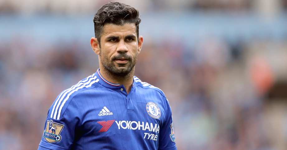 MANCHESTER, ENGLAND - AUGUST 16: Diego Costa of Chelsea during the Barclays Premier League match between Manchester City and Chelsea at the Etihad Stadium on August 16, 2015 in Manchester, England. (Photo by Matthew Ashton - AMA/Getty Images)