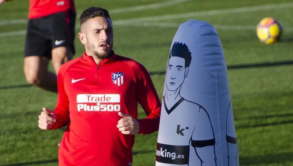 Koke durante un entrenamiento del Atlético de Madrid / Atlético de Madrid