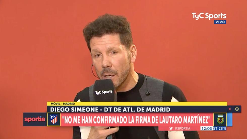 VIDEO: Le preguntan a Simeone sobre Lautaro Martínez y éste ya contesta sin tapujos 1