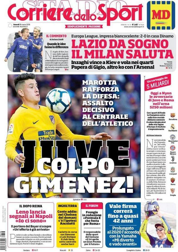 Corriere dello Sport: Rodri y 2 incorporaciones reales más que ultima Simeone 1